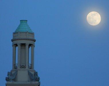 full moon over cupola